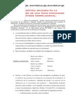 La estadística aplicada en la elaboración de aplicando el método correlacional una tesis