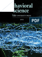 Yale University Press Behavioral Science 2012 Catalog
