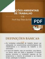 CONDIÇÕES AMBIENTAIS DE TRABALHO