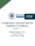 everyday math online parent tutorial