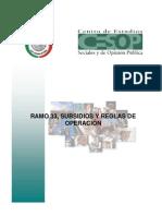 FATSDS002 Ramo 33, Subsidios y Reglas de Operacion