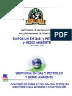 Locaciones de Pozos de Exploracion Petrolera