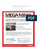 INFORMATION WEEKLY ISSUE 144 For week ending Friday 28th September 2012
