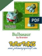 Bulbasaur A4 Lined