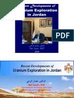 Recent Developments of Uranium Exploration in Jordan, Ned Xoubi, 2008