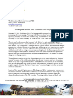 TIES Press Release - Traveling with Climate in Mind – business as usual or staying at home? Feb 27, 2008