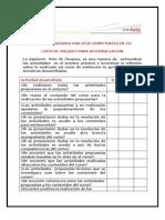 Lista de Chequeo Para Autoevaluacion. Curso Servidores Publicos