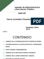 Cierre  Mensual –Trimestral  Automatización II Etapa Contabi