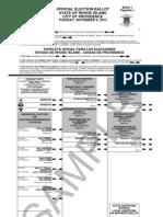 Sample Ballot for November 6 Elections