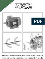 Motores assíncronos trifásicos blindados de rotor em curto ou de rotor bobinado