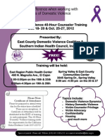 40 Hour Domestic Violence Training Flyer