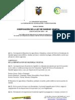 Ley Sanidad Vegetal Ecuador
