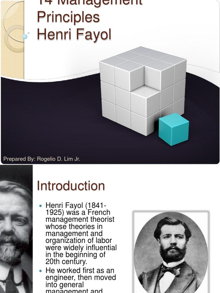 14 principles of henri fayol Fayol's 14 principles of management ppt henri fayol's 14 principles of management « management innovations 1 ppt functions of management - assignment (ppt).