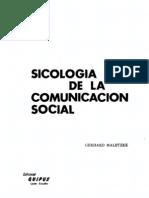 Sociologia de La Comunicacion Social 1