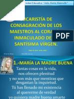EUCARISTÍA consagración maestros  2012