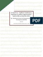 Aadhaar Conference Report