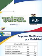 Estadísticas Premio Innova 2012