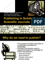 Publishing in Scholarly and Scientific Journals