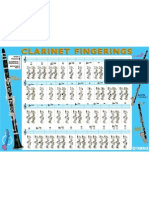 Clarinete - Tabela de Posições