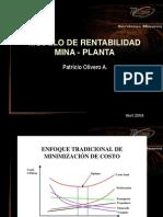 Modelo de Rentabilidad Mina_Planta