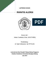 Lapsus Adrian-Rhinitis Alergica