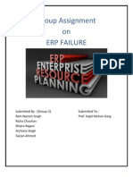 Erp Failure Assignment