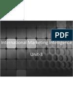 International Marketing Intelligence Unit-3