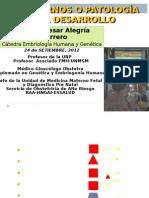 Trastornos Patología de Desarrollo- Ácido Fólico