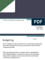Media Budgeting & Planning