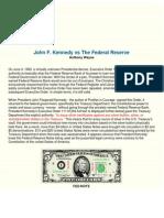 JFk vs the Fed - Fractional Banking