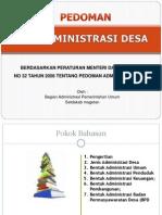 Pedoman Administrasi Desa