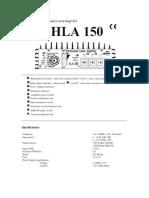 HLA 150 E Manual