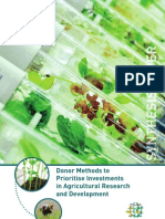 Platform synthesis paper__ Donor methods to prioritise investments in agricultural research and development