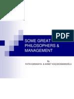 Some Great Philosophers & Management Mfk & Ak 2008