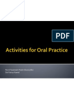 Activities for Oral Practice