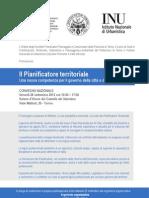 """Convegno """"Il Pianificatore territoriale"""""""