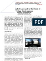 An Integrated Approach to the Study of  Virtual Environments