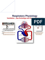 IVMS Respriatory Physiology-Ventilation , Gas Exchange and Oxygen Transport