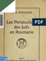 Les persecutions des juifs en Roumanie - Преследования евреев в Румынии (1919)