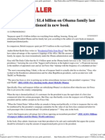 Taxpayers Spent $1.4 Billion on Obama Family Last Year2012