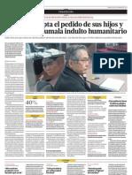Fujimori acepta el pedido de sus hijos y solicitará a Humala indulto humanitario