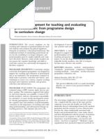 Faculty Development for Teaching