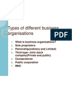 Types of Different Business Organisations Berlin