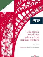Guia Practica Para El Buen Gobierno de Las Empresas Familiares
