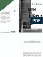 Mente, Lenguaje, Sociedad.cap 5. J. Searle