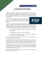 Capacidad Exportadora San Cristobal