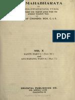 Santi Parva ( Part III )& Anusasana Parva ( Part i )
