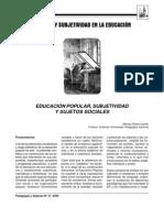 Subjetividad y Sujetos Sociales - Alfonso Torres