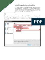 Configuracion de Los Parametros de VirtualBox