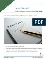 Cfa Mnemonic s Level 1 Sample